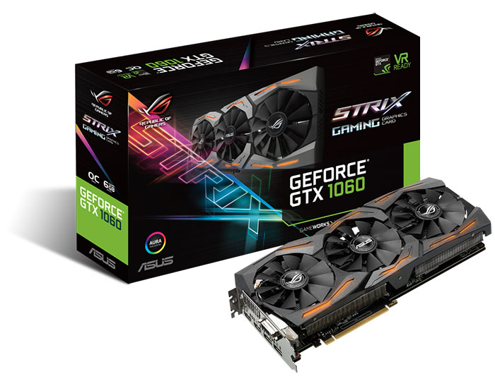 Asus Republic of Gamers annonce la Strix GeForce GTX 1060