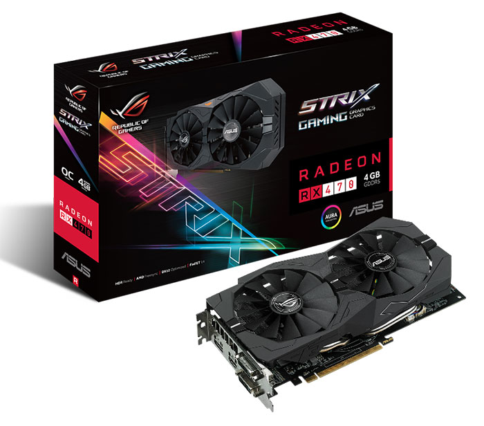 Carte graphique Strix RX 470 (box)