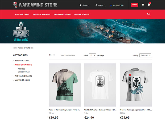 Boutique en ligne Wargaming