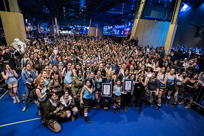 Plus grand rassemblement de cosplayers en Lara Croft