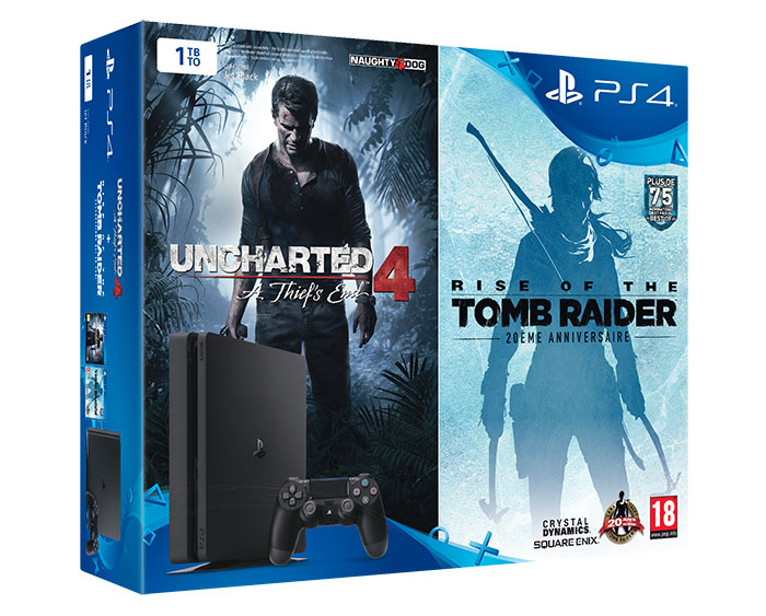 Bundle Saint Valentin PS4 : Uncharted 4 + Rise of the Tomb Raider
