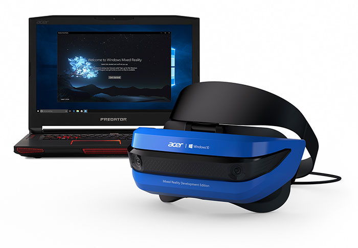 Casque de réalité virtuelle Acer Windows Mixed Reality Developer Edition