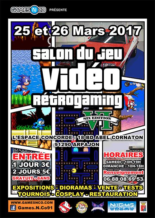 Sdjvr salon du jeu video retrogaming arpajon 91 25 - Salon du jeu video paris 2017 ...