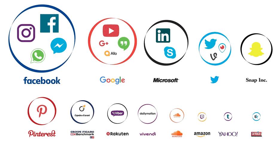 Principales plateformes sociales du marché français