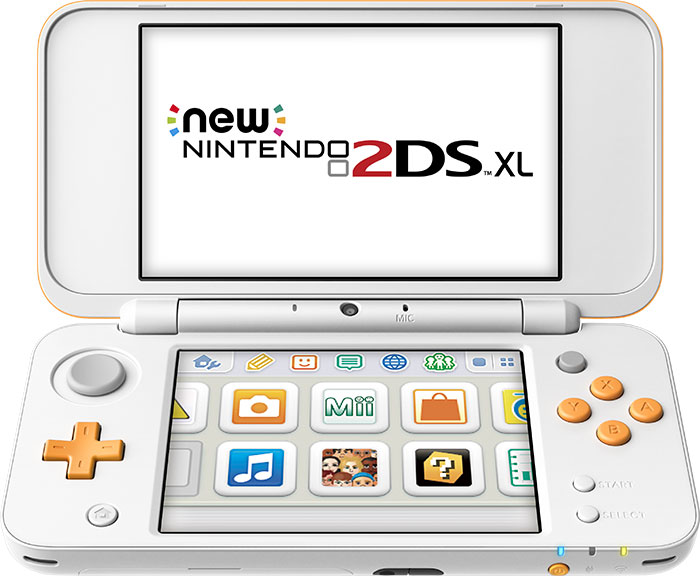 New Nintendo 2DS XL blanche