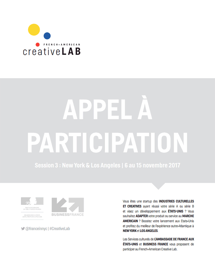 French American Creative Lab : appel à candidatures