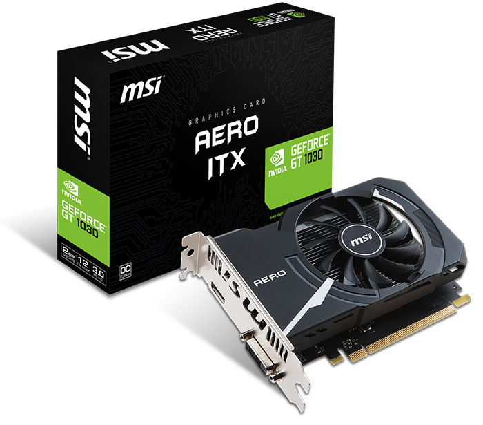 Carte GeForce GT 1030 Aero ITX 2G OC