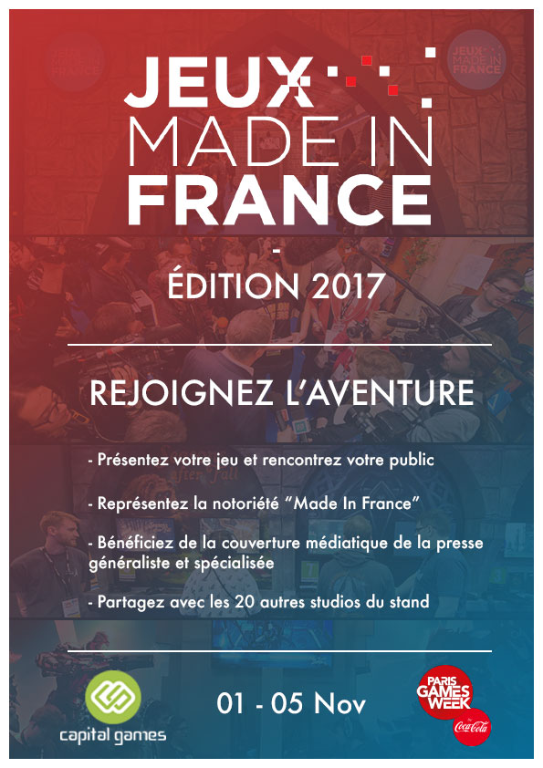 Inscription pour le stand Jeux Made in France