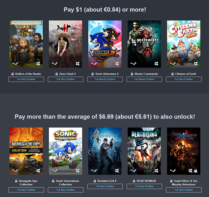 Humble Tri-Publisher Bundle - Sega, Atlus et Capcom