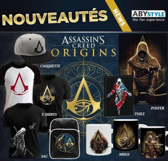 Nouvelle Collection Assassin's Creed Origins by ABYstyle