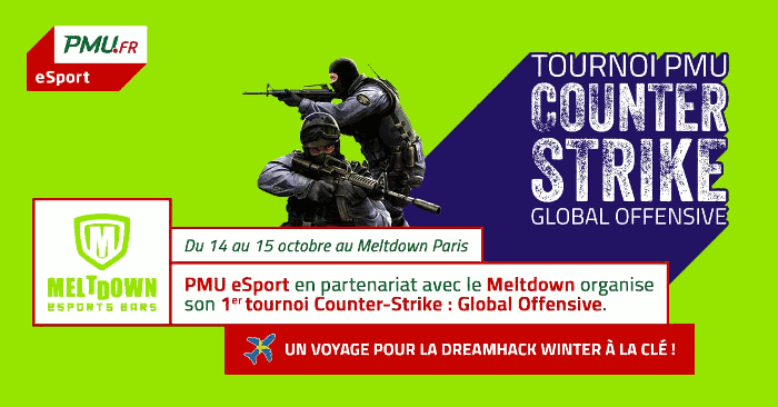 PMU eSport organise un tournoi de Counter-Strike au Meltdown