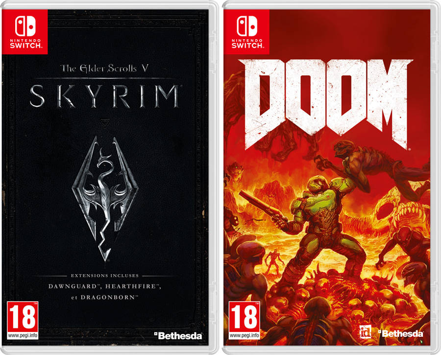 Doom et Skyrim jouables sur Switch à la Paris Games Week