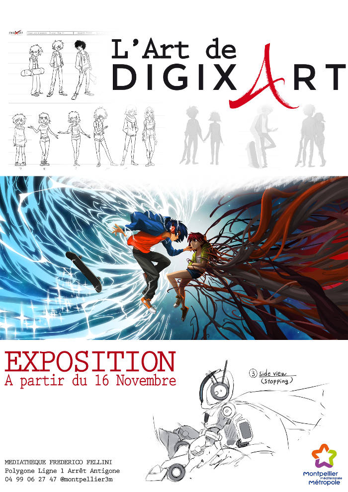 "Exposition ""L'Art de DigixArt"" à Montpellier"