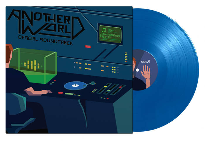 La bande originale d'Another World en version vinyle bleu