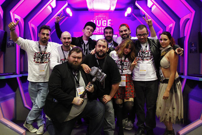 L'équipe Huge Bang Bang à la Paris Games Week
