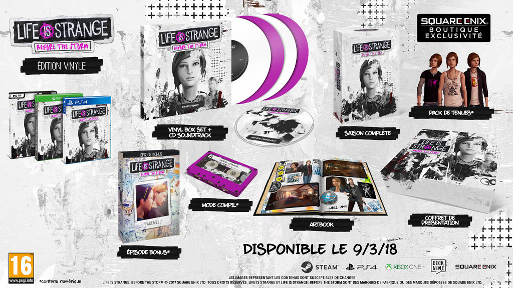 Edition vinyle de Life is Strange Before the Storm en mars