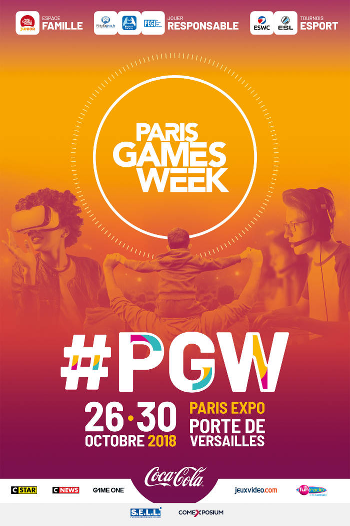 Affiche Paris Games Week 2018 (PGW 2018)