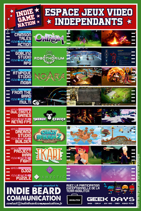Calendrier Priere Lille.Indie Game Nation Aux Geek Days De Lille