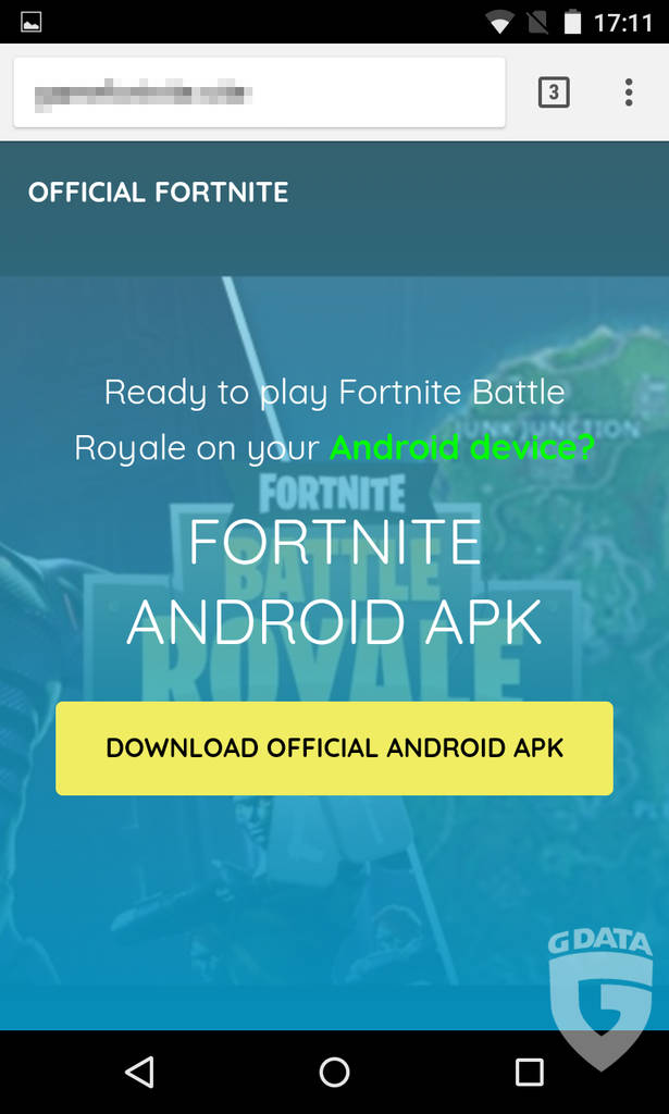 fausses applications Fortnite