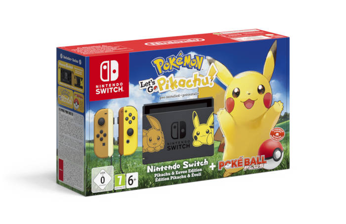 Packs Nintendo Switch en édition limitée Pikachu & Evoli