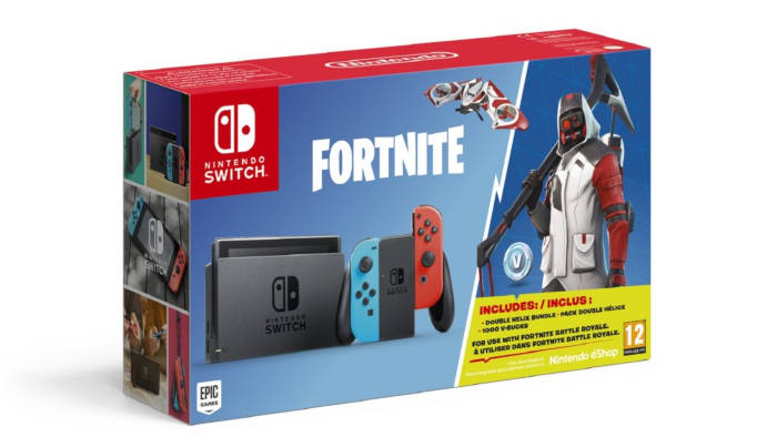 Un pack Nintendo Switch Fortnite incluant des V-Bucks