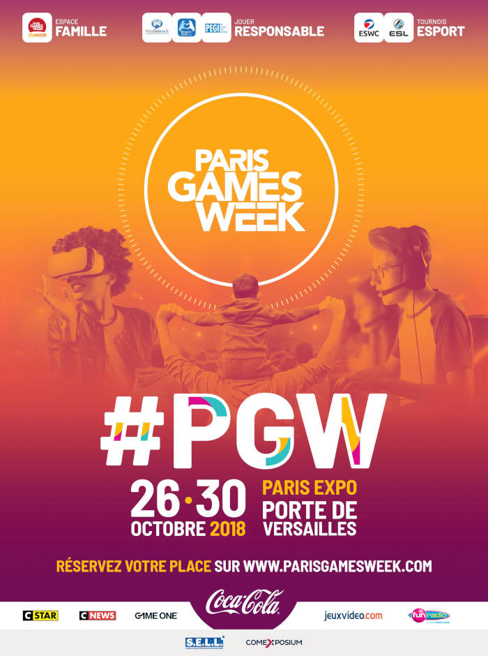 Affiche Paris Games Week 2018