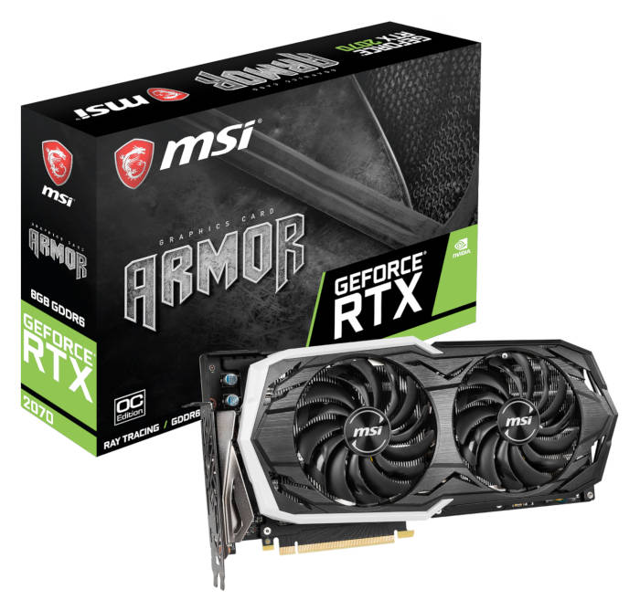 Carte graphique MSI Geforce RTX 2070 Armor 8G OC