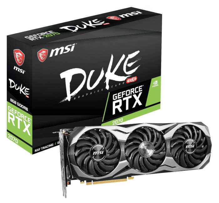 Carte graphique MSI Geforce RTX 2070 Duke 8G OC