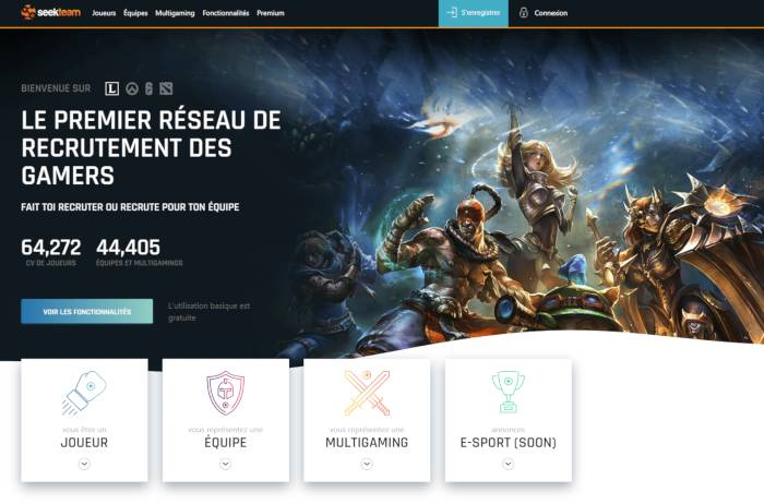 9eddd2c5c63 Seek Team le premier réseau de recrutement de gamers a lancé la nouvelle  version de son site internet. La refonte complète du site s est opérée dans  les ...