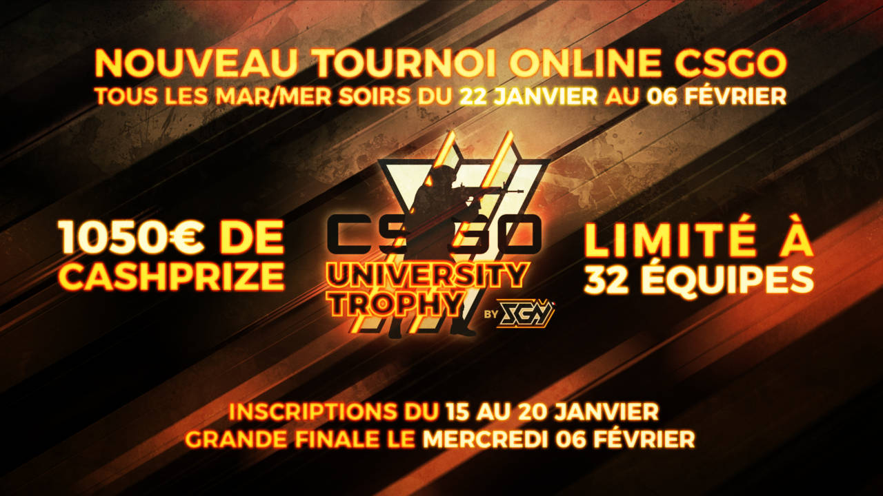 Tournoi étudiant du Student Gaming Network sur CS : GO