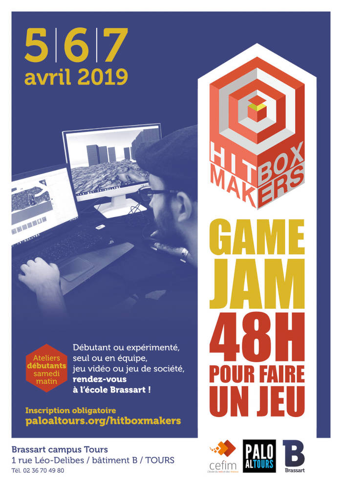 Hitbox Makers organise sa 6e Game Jam les 5, 6, 7 avril