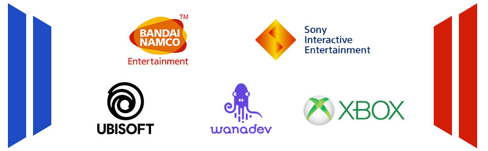 Bandai Namco Entertainment, Sony Interactive Entertainment France, Ubisoft, Wanadev et Xbox France