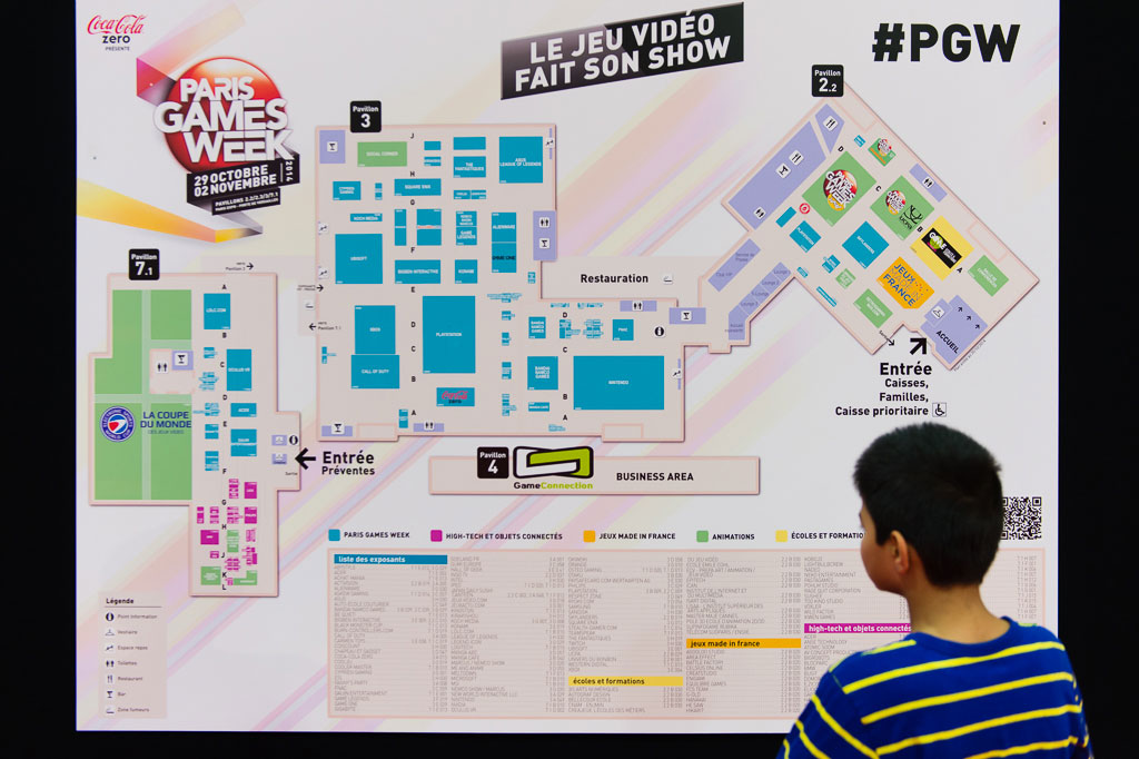 Plan du Paris Games Week Plan de la Paris Games Week