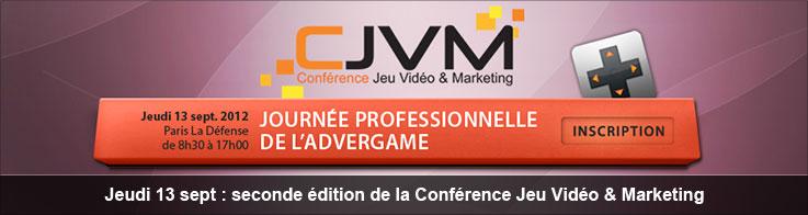 Jeudi 13 sept : seconde édition de la Conférence Jeu Vidéo & Marketing