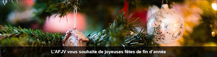 L'AFJV vous souhaite de joyeuses fêtes de fin d'année