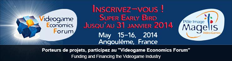 """Porteurs de projets, participez au """"Videogame Economics Forum"""""""