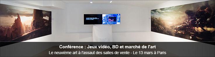 Conférence : Jeux vidéo, BD et marché de l'art